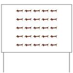 Weiner Dog Yard Sign