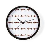 Weiner Dog Wall Clock