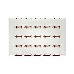 Weiner Dog Rectangle Magnet