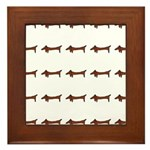 Weiner Dog Framed Tile