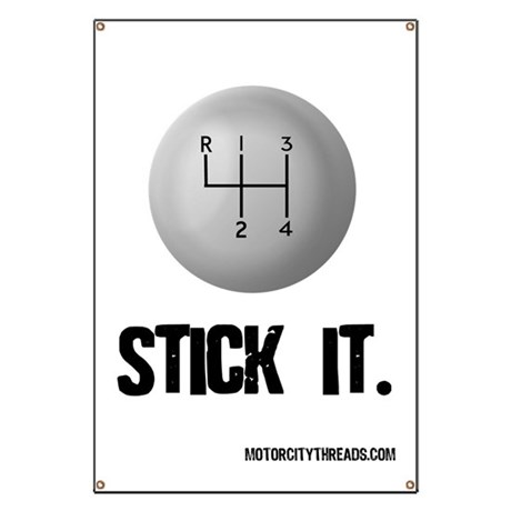 STICK IT Garage Banner