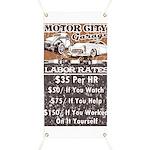 Motor City Labor Rates Garage Banner