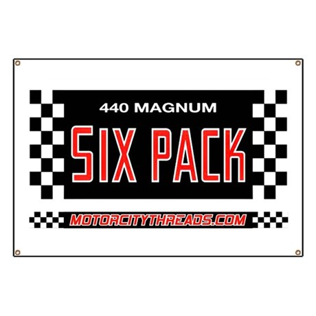 440 Magnum Six Pack Garage Banner