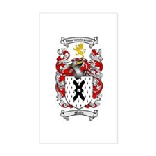 Mills Family Crest Rectangle Decal
