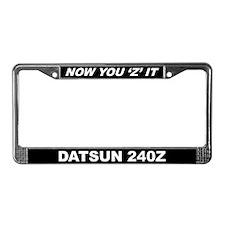 240Z License Plate Frame