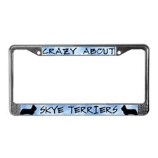 Crazy About Skye Terriers License Plate Frame