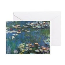 Waterlilies by Claude Monet Greeting Cards (Pk of