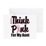 iThinkPink For My Aunt Greeting Cards (Pk of 10)