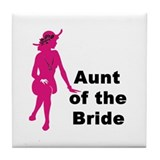 Silhouette Aunt of the Bride Tile Coaster