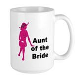 Silhouette Aunt of the Bride Mug
