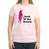 Silhouette Aunt of the Groom T-Shirt