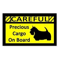 Precious Cargo Scottie Sticker (Rect)
