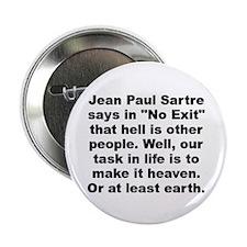 "Jean paul sartre 2.25"" Button"