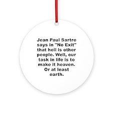 Cool Jean paul sartre Ornament (Round)