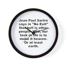 Jean paul sartre Wall Clock