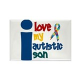 I Love My Autistic Son 1 Rectangle Magnet