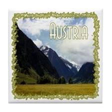 ...Austrian View... Tile Coaster