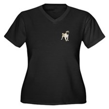 Pug Picture - Women's Plus Size V-Neck Dark T-Shir
