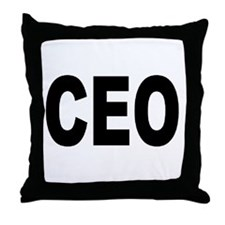 Funny Entrepreneur Throw Pillow