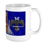 Masonic Ear in the sky Large Mug
