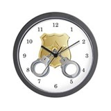 Police Wall Clock
