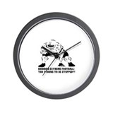 FOOTBALL-TOO STRONG TO BE STO Wall Clock