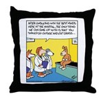 Dog Doctors Recommend Grass Throw Pillow