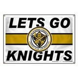 Cal Knights Hockey Fan Banner
