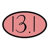 13.1 Oval Sticker (10 pk)