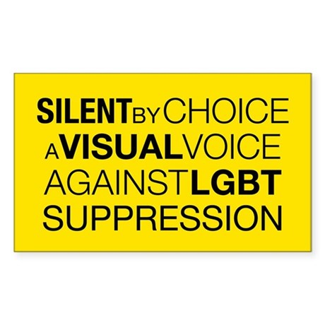 Silent By Choice Rectangle Sticker 50 pk)