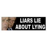LIARS LIE Bumper Car Sticker