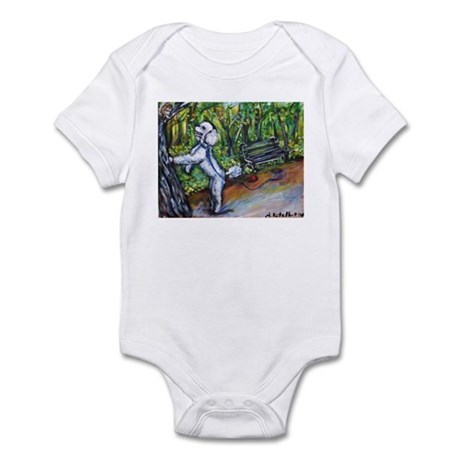 Poodle squirrel chaser Infant Bodysuit