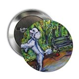 "Poodle squirrel chaser 2.25"" Button (10 pack)"