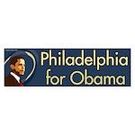 Philadelphia for Obama bumper sticker