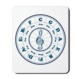 New Blue Circle of Fifths Mousepad