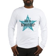 Blue Star Due In November Long Sleeve T-Shirt