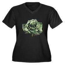 Dollar Rose Women's Plus Size V-Neck Dark T-Shirt