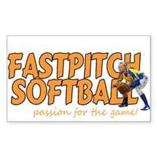 fastpitch Rectangle Decal