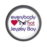EVERYBODY LOVES A HOT JERSEY BOY Wall Clock