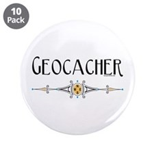 "Geocacher 3.5"" Button (10 pack)"