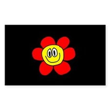 Smiling Flower Rectangle Decal