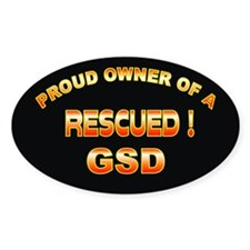 Rescued GSD Oval Decal