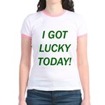 I Got Lucky Today Jr. Ringer T-Shirt