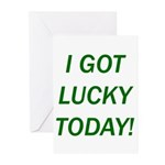 I Got Lucky Today Greeting Cards (Pk of 10)