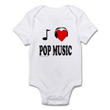 I HEART POP MUSIC Infant Bodysuit