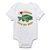 I LOVE FISHING WITH MY DAD!  Baby Onesie