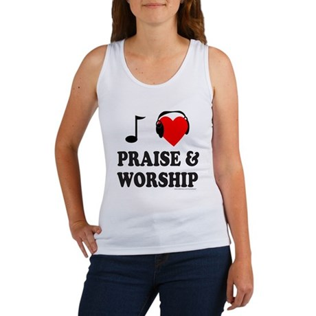 I HEART PRAISE AND WORSHIP Women's Tank Top