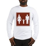 Restroom Family Sign Long Sleeve T-Shirt