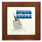 Spring Break Beer Keg Design Framed Tile