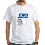 Spring Break Beer Keg Design White T-Shirt